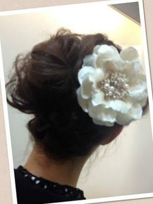 結婚式!お花をつけて